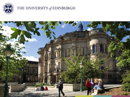 Information for international applicants and offer holders - International office university of edinburgh ...
