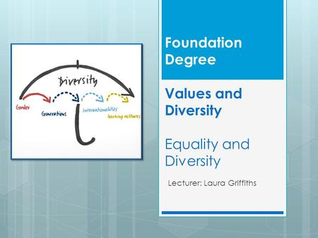 Foundation Degree Values and Diversity Equality and Diversity