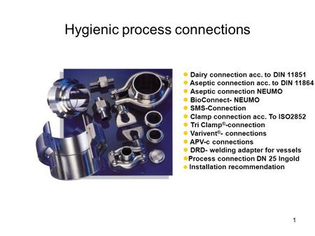 Hygienic process connections