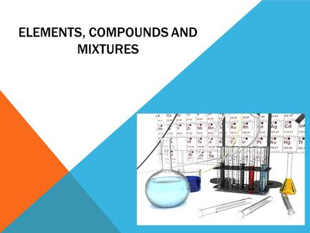 Elements, Compounds and Mixtures