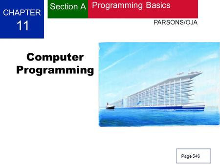 11 Computer Programming Section A Programming Basics CHAPTER
