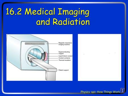 16.2 Medical Imaging and Radiation. Ideas for today What are x-rays and gamma rays? How are x-rays used for imaging? How are gamma rays used to kill tumors?