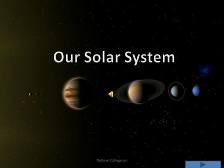 Our Solar System National College Iasi. Our Planets Sun Mercury Venus Earth Earth`s Moon Mars Jupiter Saturn Uranus Neptune Pluto Others Asteroids Meteor.