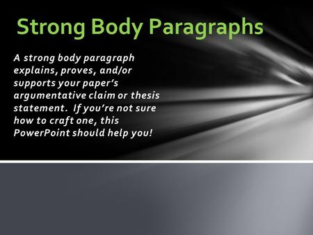 how many body paragraphs in an explanatory thesis Body paragraphs this is where you'll get to include the information you gathered in your research make sure you stick close to the theme you introduced in your thesis.