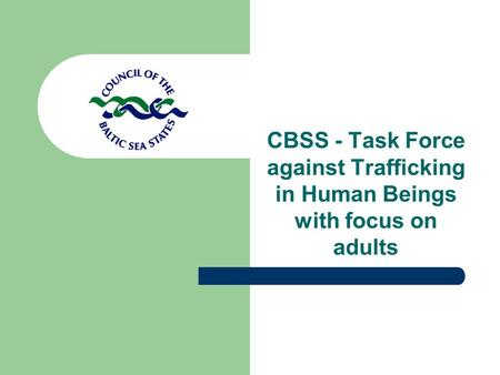 CBSS - Task Force against Trafficking in Human Beings with focus on adults.