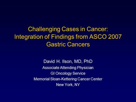Gastric cancer phd thesis