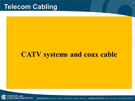 1 Telecom Cabling CATV systems and coax cable. 2 Telecom Cabling Community antenna TV is covered in the NEC article 820, and is covered in a limited capacity.