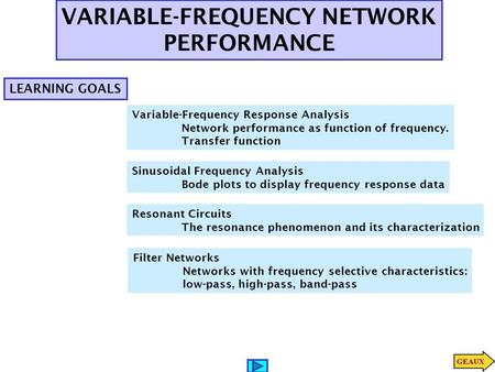 VARIABLE-FREQUENCY NETWORK