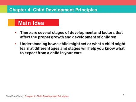 Chapter 4: Child Development Principles