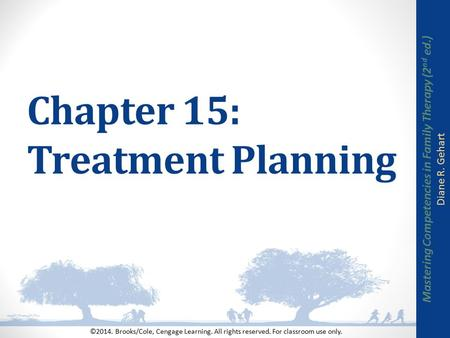 Chapter 15: Treatment Planning