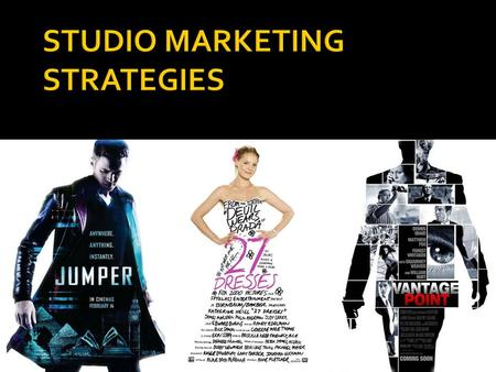 WEEK 8.  In 2009, the average marketing budget for a theatrical release from a major Hollywood studio was $35.9 million (source: MPAA)  For expensive,