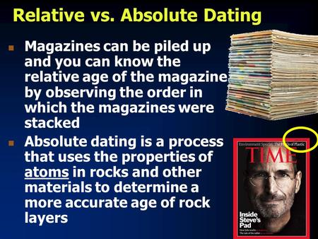 relative vs absolute age dating and