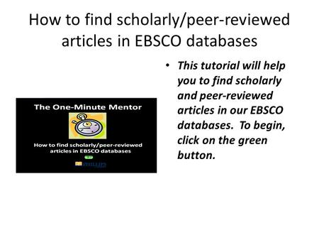 Scholarly essay database