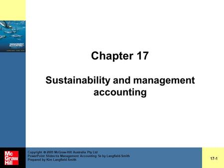 Chapter 17 Sustainability and management accounting