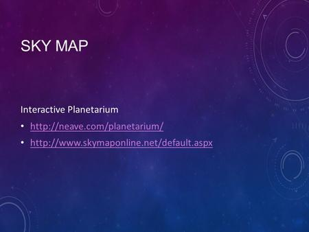 Sky map Interactive Planetarium