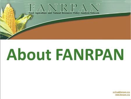 About FANRPAN