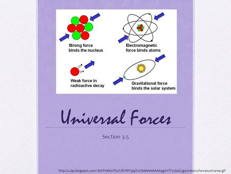 Universal Forces Section 3.5