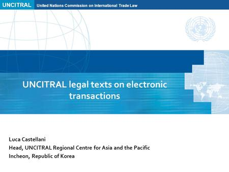 united nations commission on international trade A panel created in 1966 to further harmonise and unify international trade laws for further information, see uncitral's website the un adopted the uncitral model law on international commercial arbitration in 1985, which is not binding on uncitral member states end of document resource id 9-107- 7452.