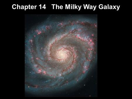 Chapter 14 The Milky Way Galaxy. Units of Chapter 14 Our Parent Galaxy Measuring the Milky Way Galactic Structure The Formation of the Milky Way Galactic.