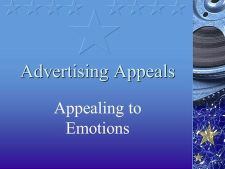 Advertising Appeals Appealing to Emotions. Uses Advertising. Politics. Any place someone uses emotional appeals rather than logic to get something.
