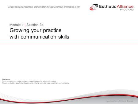 Module 1 | Session 3b Growing your practice with communication skills