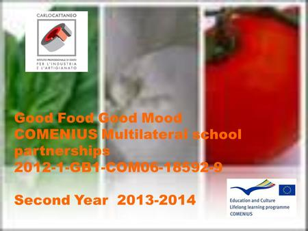 Good Food Good Mood COMENIUS Multilateral school partnerships 2012-1-GB1-COM06-18592-9 Second Year 2013-2014.