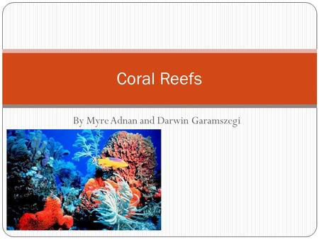 By Myre Adnan and Darwin Garamszegi Coral Reefs. Biome Biomes are climatically and geographically defined as communities of animals, plants and soil organisms.