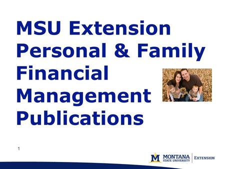 1 11 MSU Extension Personal & Family Financial Management Publications.