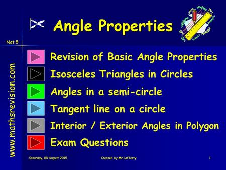 Angle Properties Revision of Basic Angle Properties