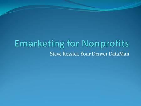 Emarketing for Nonprofits