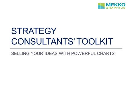 Strategy Consultants' toolkit