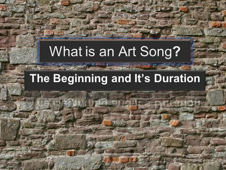 What is an Art Song?. Art Song vs Folk Song In Western music, it is customary to distinguish Folk song, Popular song and the Art Song. Folk songs generally.