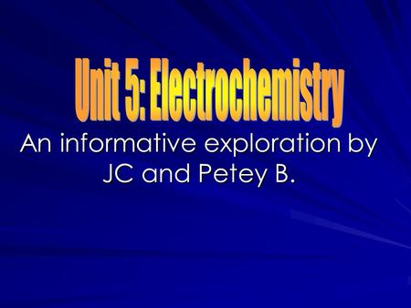 An informative exploration by JC and Petey B.. Oxidation Numbers All oxidation and reduction reactions involve the transfer of electrons between substances.