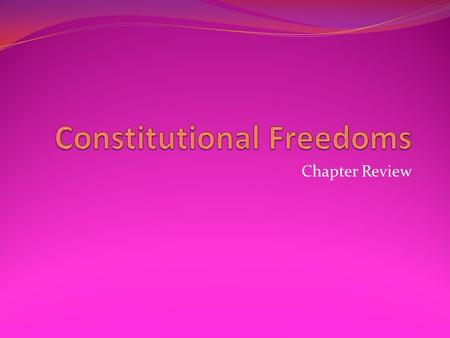 Chapter Review. Clause of the First Amendment which states the government may not support a church or religion.