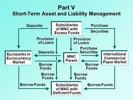 Part V Short-Term Asset and Liability Management