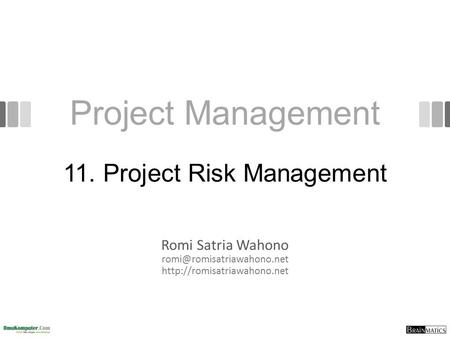 11. Project Risk Management