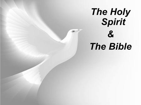 The Holy Spirit & The Bible. Bible Quiz What language was the Bible originally written in? The Old Testament was written mostly in Hebrew, with some Aramaic.