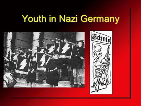 Youth in Nazi Germany. Why did the Hitler youth organizations exist? Hitler claimed that his Reich would last for a thousand years For Hitler, this.