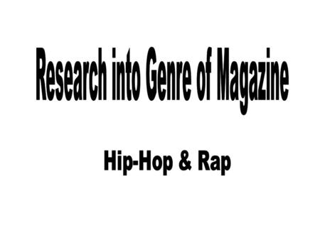 History of Hip-Hop & Rap Hip hop in the Bronx of New York City in the 1970s. Hip hop is defined by key stylistic elements such as rapping, DJing, sampling,