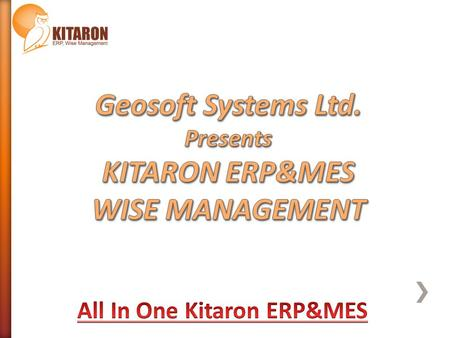 Geosoft System Ltd. established in 1998, develops managerial software for modern organizations. KITARON ERP&MES Production Management System is developed.