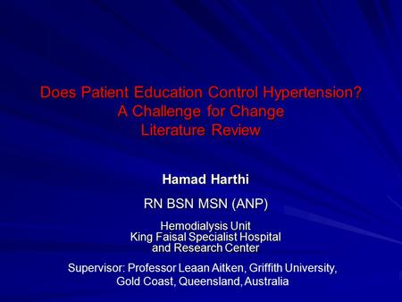research thesis on hypertension Free hypertension papers, essays, and research papers self-reported hypertension and use of antihypertensive medication - the age of rapid and modern development has brought us into a lifetime filled with a whole new array of lifestyle choices that can be made.