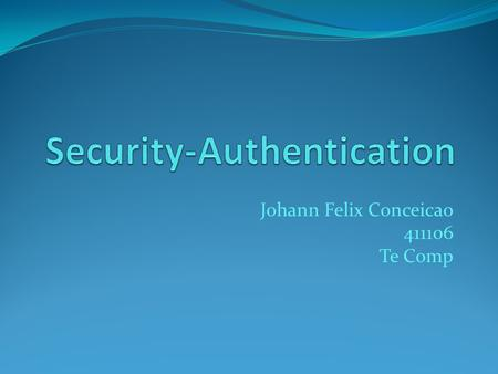Security-Authentication