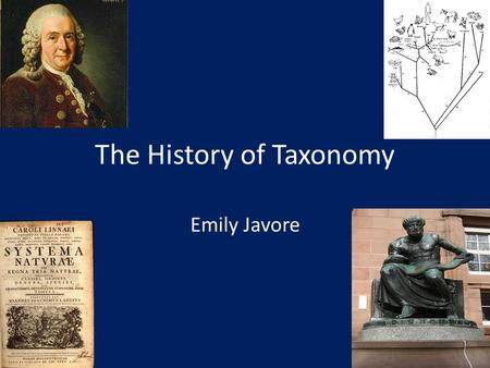 The History of Taxonomy Emily Javore. Taxonomy Taxis: order or arrangement. Nomos: law or science. The practice and science of classification. More specifically,