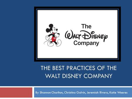 walt disney strategic audit D a r reserved suppliers strategic sourcing and procurement the walt disney company is a diversified worldwide entertainment company with operations in four major business segments: studio entertainment, parks and resorts.