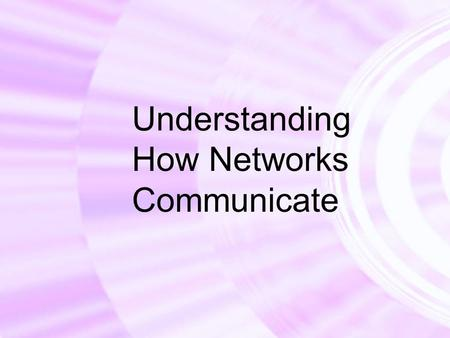 Understanding How Networks Communicate. Copyright © Texas Education Agency, 2011. All rights reserved.2 We Will Learn: Basic networked communications.