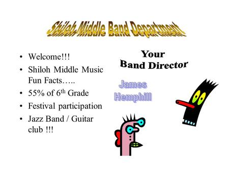 Shiloh Middle Band Department
