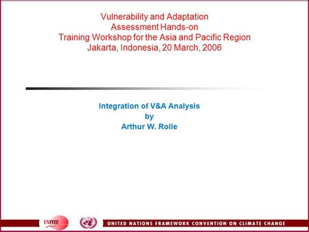 Integration of V&A Analysis