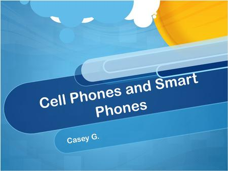 "Cell Phones and Smart Phones Casey G.. To turn your phone on and off… To turn it on, press and hold the green / ""send"" button. To turn it off, press and."