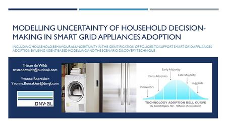 MODELLING UNCERTAINTY OF HOUSEHOLD DECISION- MAKING IN SMART GRID APPLIANCES ADOPTION INCLUDING HOUSEHOLD BEHAVIOURAL UNCERTAINTY IN THE IDENTIFICATION.