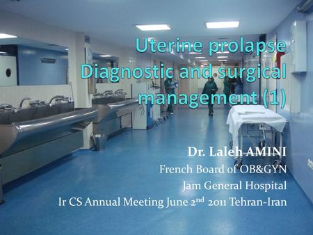 Dr. Laleh AMINI French Board of OB&GYN Jam General Hospital Ir CS Annual Meeting June 2 nd 2011 Tehran-Iran.